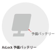 AsLock予備バッテリー