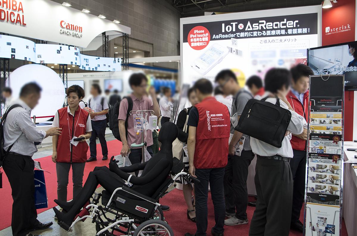 AsReaderブースは来場者の方々の熱気に溢れていました。